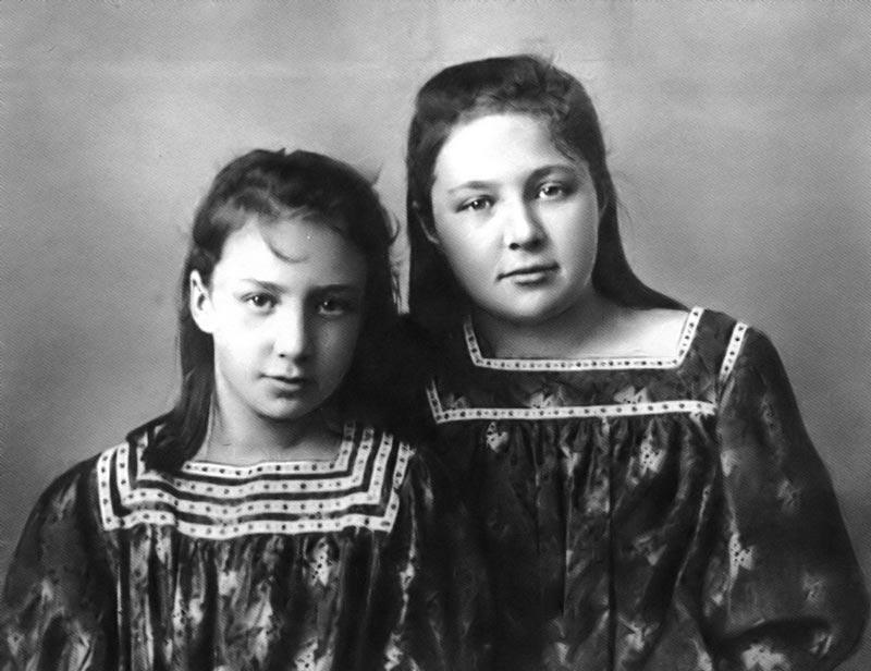 Марина и Ася Цветаевы
