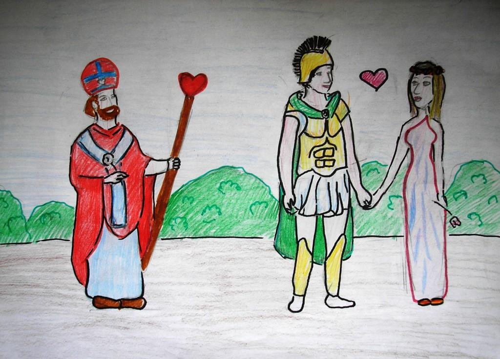 Валентин венчает влюбленных