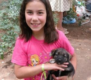 Дашка с собакой