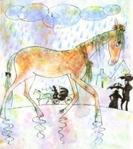 Лошадь в калошах