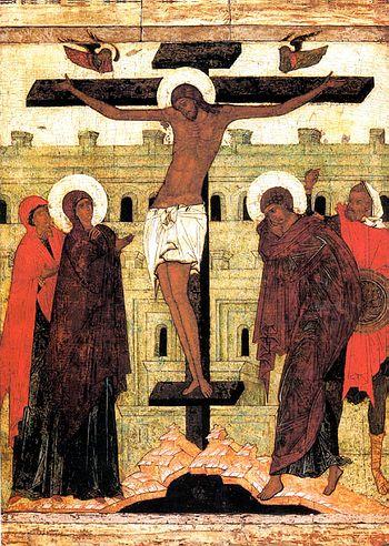 Распятие древнерусская икона