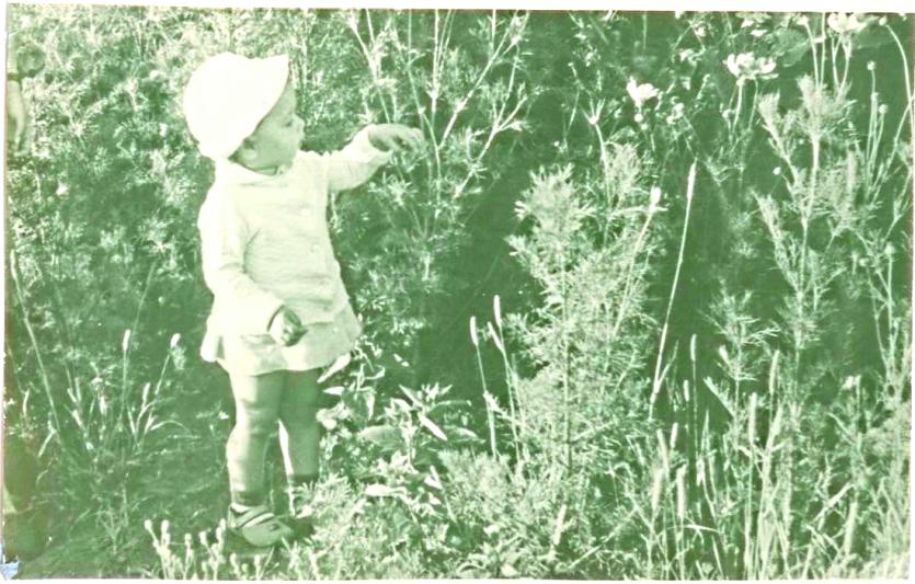 женечка в траве