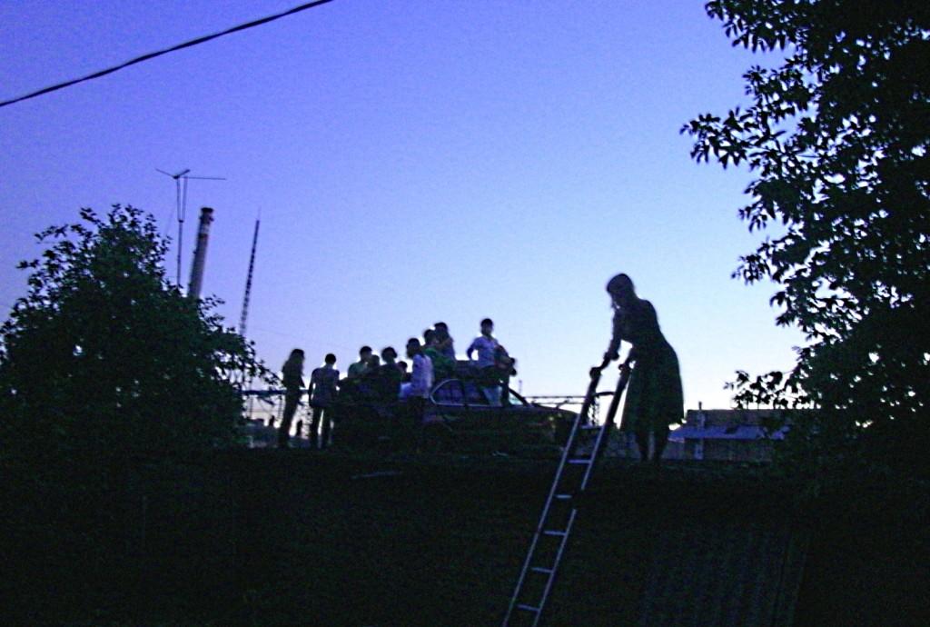 золотая молодежь на крыше